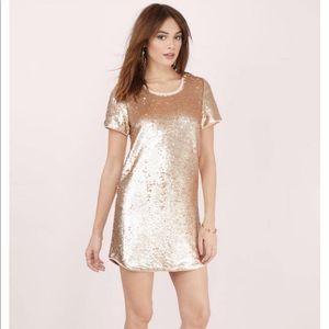 NWT TOBI SHIFT IN TIME BLUSH Sequin DRESS
